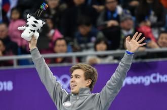Бронзовый призер Олимпиады-2018 Семен Елистратов