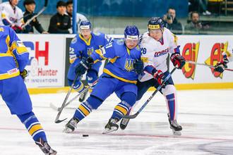 Кадр матча Украина — Южная Корея