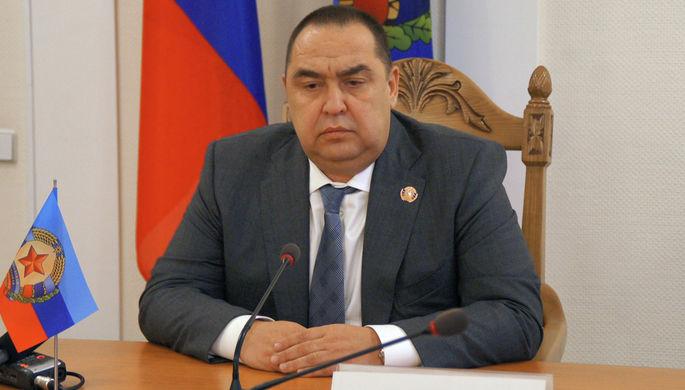 Глава самопровозглашенной Луганской народной республики (ЛНР) Игорь Плотницкий на пресс-конференции, 22 ноября 2017 года
