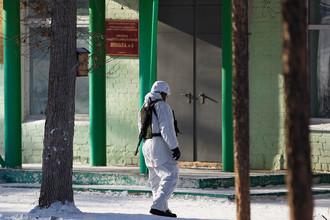 Здание школы №5 в микрорайоне «Сосновый бор» города Улан-Удэ, где произошло нападение на учеников и преподавателя, 19 января 2018 года