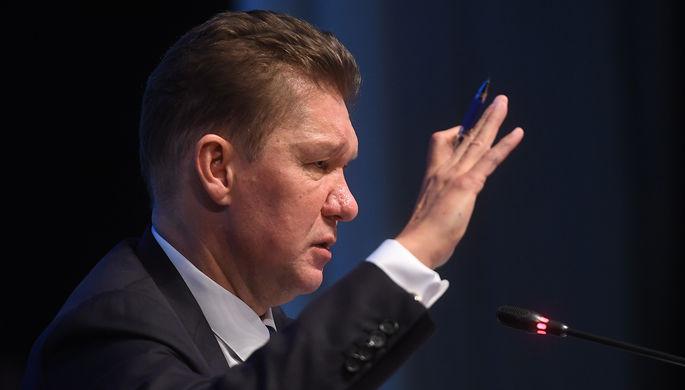 Предправления ПАО «Газпром» Алексей Миллер на пресс-конференции после окончания годового...