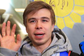 Конькобежец Семен Елистратов