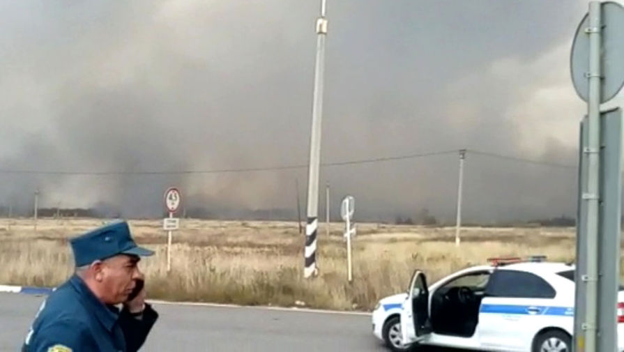 Пожар на складе боеприпасов в Рязанской области, 7 октября 2020 года