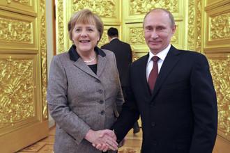 Владимир Путин и Ангела Меркель встретились в Петербурге