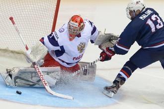 Полуфинал юниорского чемпионата мира по хоккею. Россия- США
