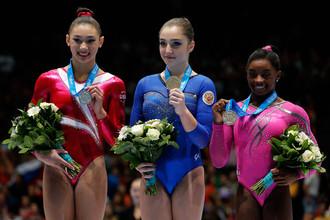 Алия Мустафина выиграла золото чемпионата мира по спортивной гимнастике