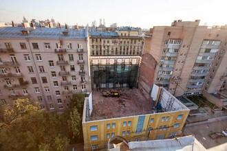 Обрушение фасада дома Прошиных на Тверской-Ямской
