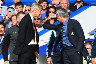 Главные тренеры лондонских «Арсенала» и «Челси» — француз Арсен Венгер и португалец Жозе Моуринью