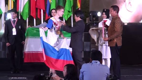 Награждение победителей олимпиады в Индонезии
