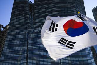 Флаг Республики Корея в Сеуле