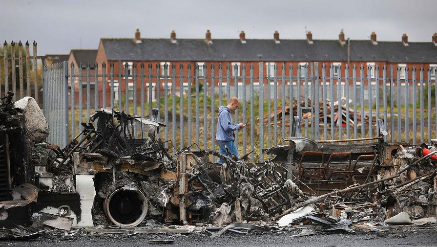Последствия беспорядков в Белфасте, Северная Ирландия, 8 апреля 2021 года