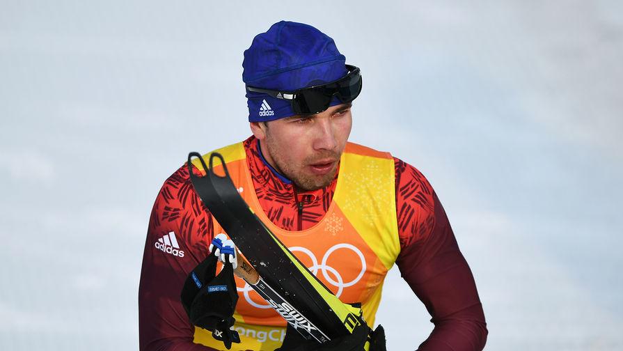 Алексей Червоткин, завоевавший второе место на дистанции эстафеты 4x10 км среди мужчин в соревнованиях по лыжным гонкам на XXIII зимних Олимпийских играх