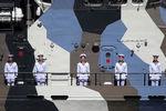Экипаж противодиверсионного катера «Нахимовец» во время Главного военно-морского парада в честь Дня Военно-Морского Флота России, 26 июля 2020 года