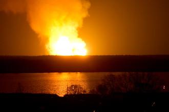 В Щелковском районе Подмосковья произошел пожар на газопроводе