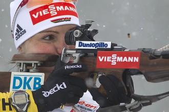 Пять промахов не помешали Мириам Гесснер завоевать первый титул на этапе Кубка мира