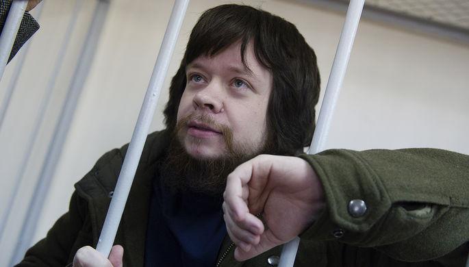 Активист «Левого фронта» Константин Лебедев, осужденный по «болотному делу», во время рассмотрения вопроса об УДО в Лефортовском суде Москвы, 2014 год