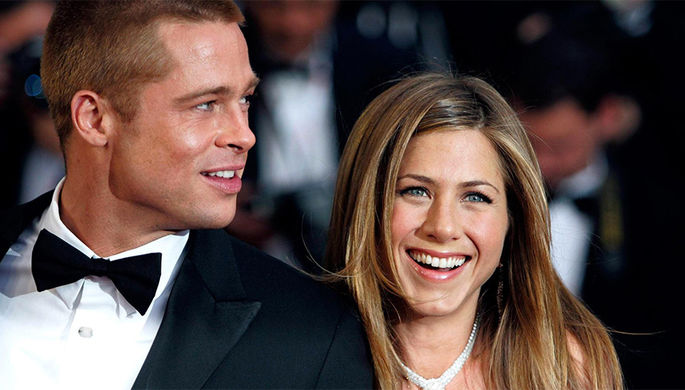 Дженнифер Энистон и Брэд Питт. Звезды поженились в 2000-м, но через пять лет пара рассталась