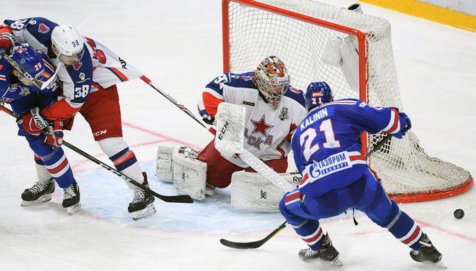 Хоккеисты «Ак Барса» празднуют победу в Кубке Гагарина