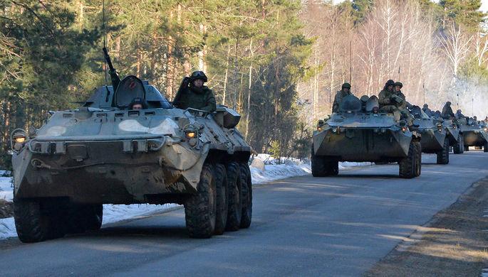 Военнослужащие вооруженных сил России во время учений, 2021 год