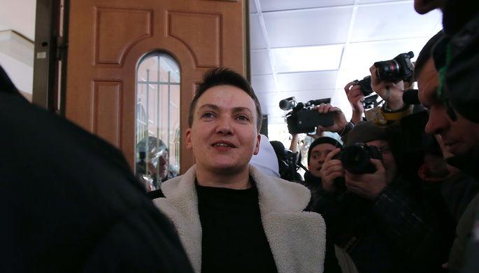 Народный депутат Украины Надежда Савченко в киевском управлении СБУ, 22 марта 2018 года