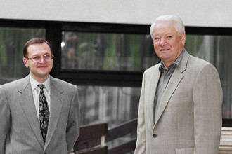 1998 год. Президент России Борис Ельцин и премьер-министр России Сергей Кириенко во время рабочей встречи в Шуйской Чупе