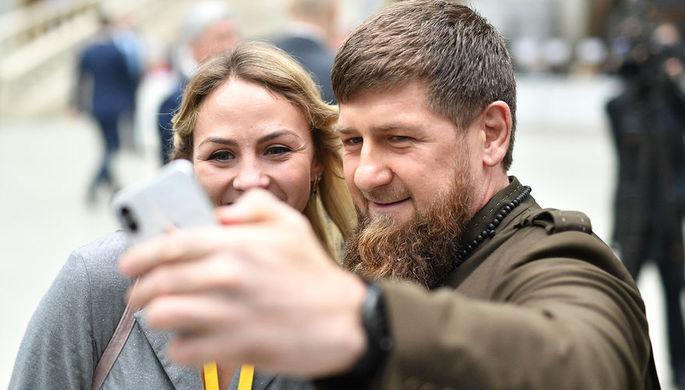 Глава Чеченской Республики Рамзан Кадыров в Гостином дворе перед началом оглашения ежегодного послания президента Российской Федерации Федеральному собранию, 20 февраля 2019 года