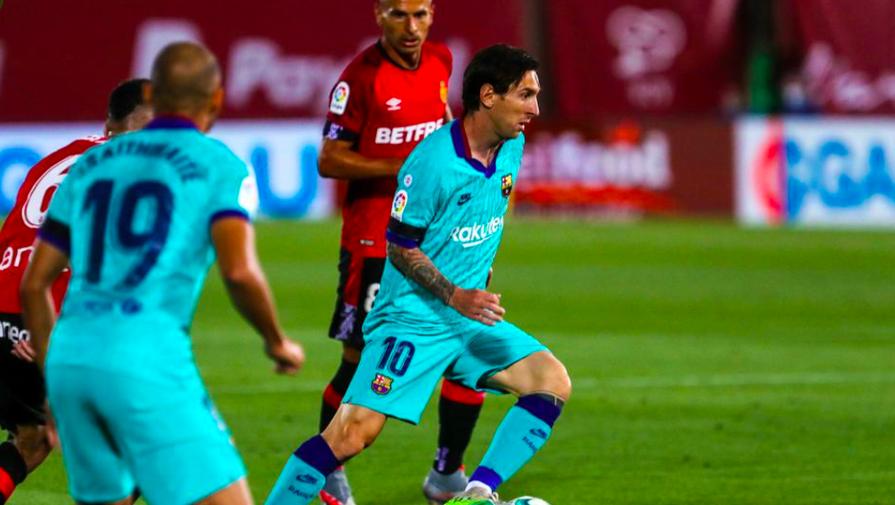 Капитан «Барселоны» Лионель Месси в матче против «Мальорки»