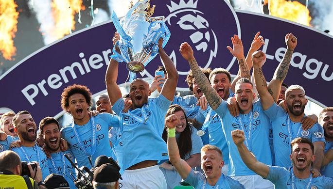 «Манчестер Сити» празднует чемпионство