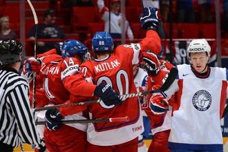 Чехи разгромили норвежцев и обеспечили себе место в плей-офф