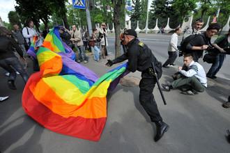 Задержание участников акции ЛГБТ-сообщества в Минске