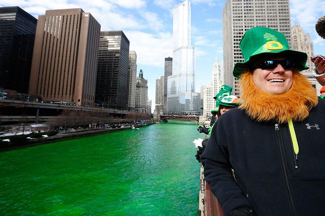 Празднование Дня святого Патрика в Чикаго