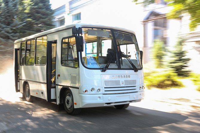Автобус «Донбасс», собранный в цехе Донецкого завода «Донецкгормаш»