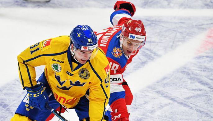 Эпизод матча Швеция — Россия на Кубке Первого канала
