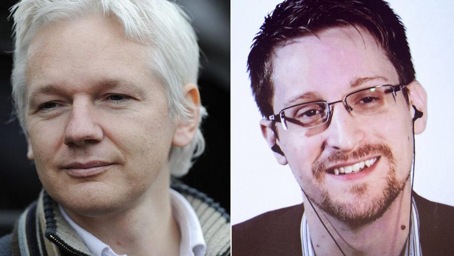 Джулиан Ассанж и Эдвард Сноуден (коллаж)