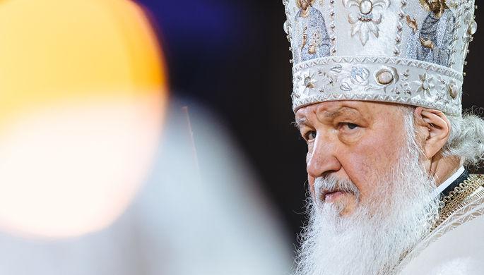 Патриарх Кирилл на пасхальном богослужении в Храме Христа Спасителя, 2017 год