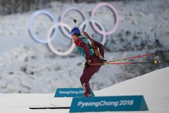 Российский биатлонист Матвей Елисеев