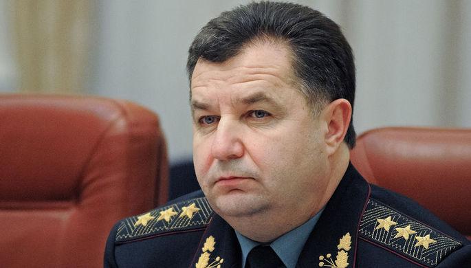 Министр обороны Украины Степан Полторак на заседании кабинета Министров Украины в Киеве, 2014 год