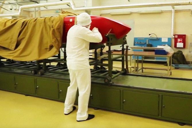 Испытания крылатой ракеты с ядерным двигателем «Буревестник», кадр из видео Минобороны