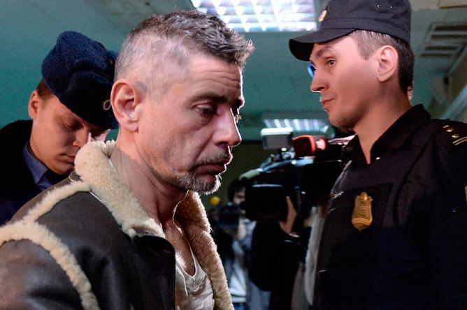 Актер Валерий Николаев в Пресненском суде по делу о массовом ДТП в центре Москвы