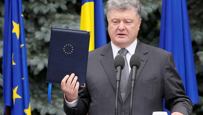 Украинский президент Петр Порошенко во время саммита Украина-ЕС в Киеве, 13 июля 2017 года