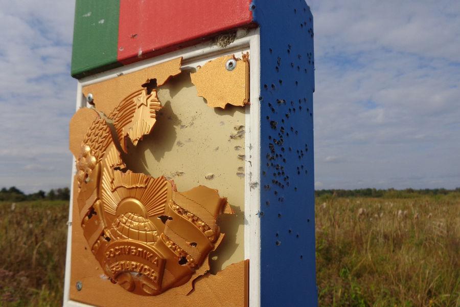 Белорусский погранзнак обстреляли СЃС'ерритории Украины