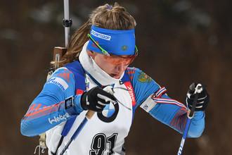 В Увате в рамках чемпионата России по биатлону проходит гонка преследования среди женщин