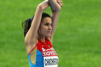 Бронзовый призер по прыжкам в высоту Анна Чичерова