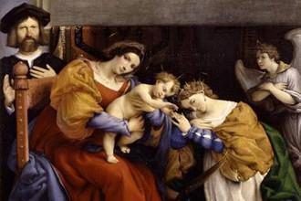 Лоренцо Лотто. Мистическое обручение св. Екатерины