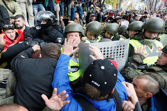 Ситуация у Верховной рады в Киеве, 17 октября 2017 года
