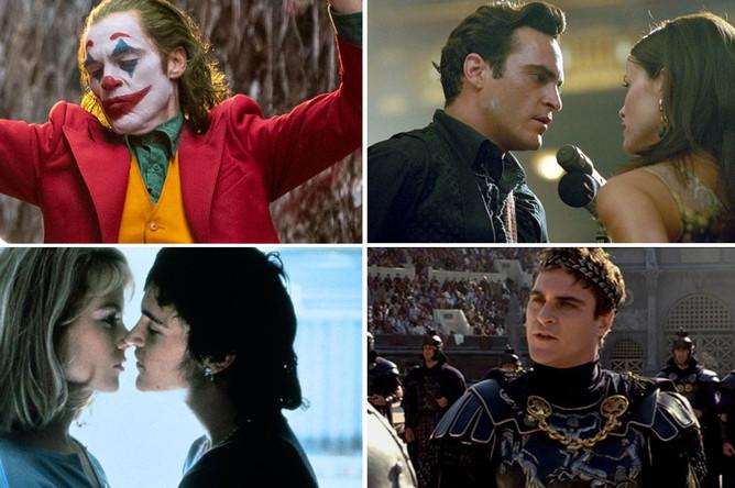 Кадры из фильмов «Джокер», «Переступить черту», «Умереть во имя» и «Гладиатор»