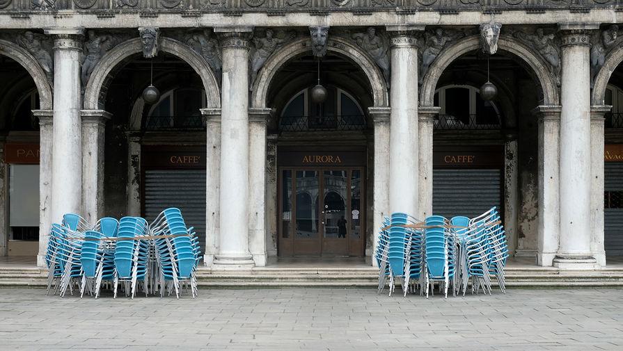 Закрытые рестораны на площади Святого Марка в Венеции, 10 марта 2020 года