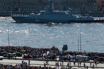 Малый ракетный корабль «Великий Устюг» во время Главного военно-морского парада в честь Дня Военно-Морского Флота России, 26 июля 2020 года