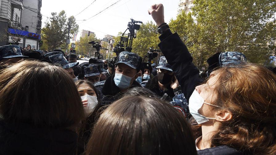 Акция протеста оппозиции в Ереване, 19 ноября 2020 года
