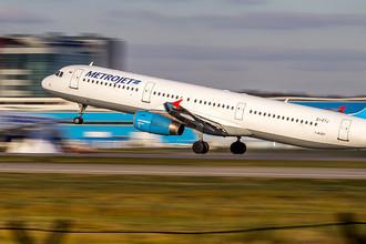 Самолет Airbus-321 авиакомпании «Когалымавиа»